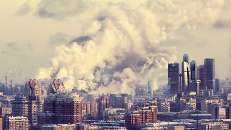 moscow city, moscow, smoke