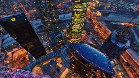 moscow, tower, view from above