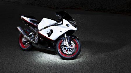 motorcycle, suzuki, night