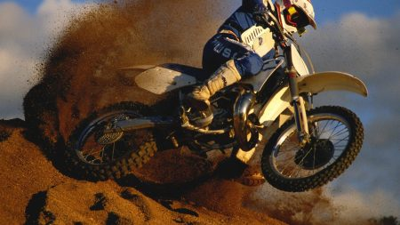 motorcyclist, dust, dirt
