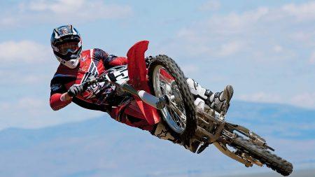 motorcyclist, jump, trick