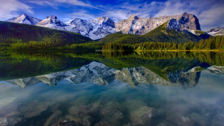 mountain landscape, reflection, mountains