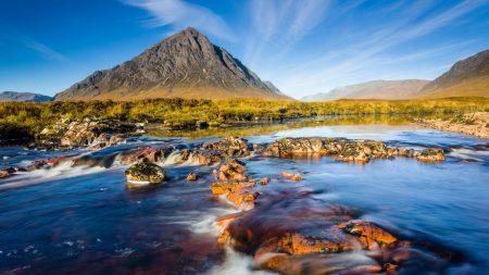 mountain, scotland, sky