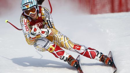mountain skiing, descent, girl