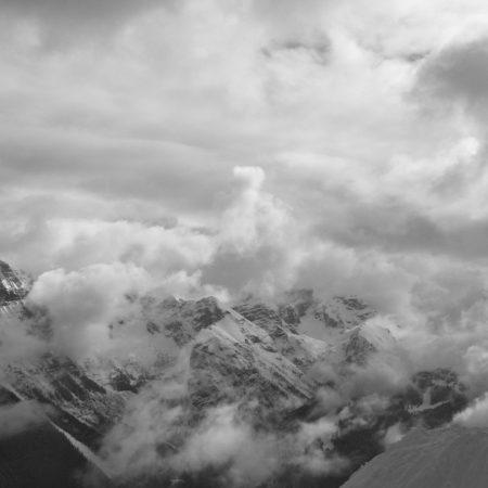 mountain, snowboard, top