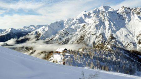 mountains, altitude, snow