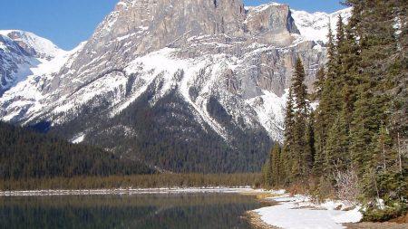 mountains, bottom, lake