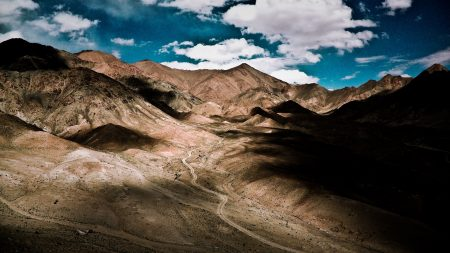 mountains, brown, hills
