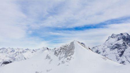 mountains, caucasus, snow