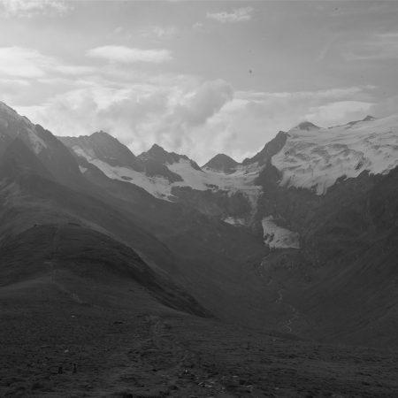 mountains, distance, sky