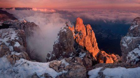 mountains, height, cross