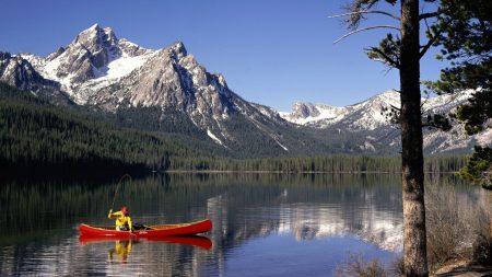 mountains, lake, idaho