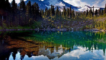 mountains, lake, purity
