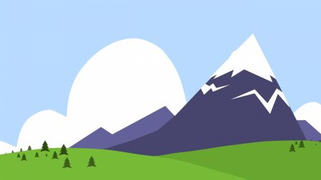 mountains, nature, paint