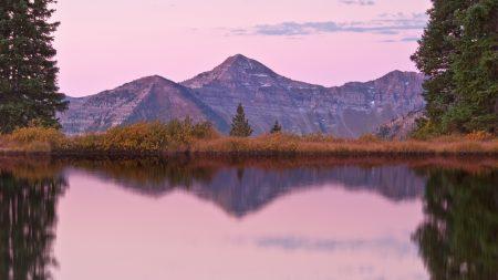 mountains, ridges, lake