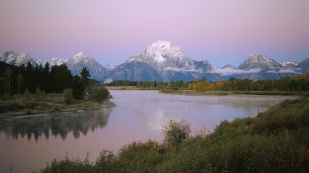 mountains, river, coast