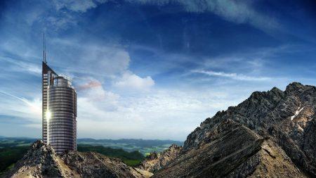 mountains, rocks, progress