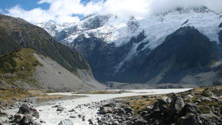 mountains, rocks, river