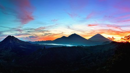 mountains, sky, bali