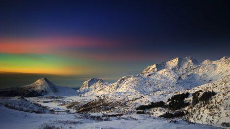 mountains, sky, shades