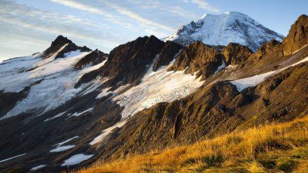 mountains, slopes, snow