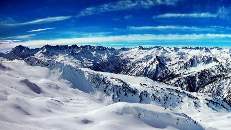 mountains, snow, ridge