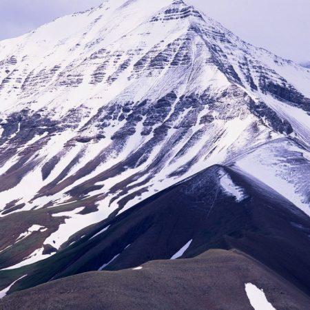 mountains, snow, soil