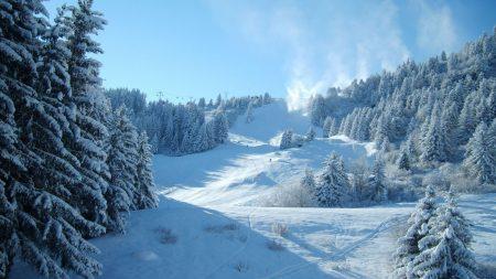 mountains, snow, winter