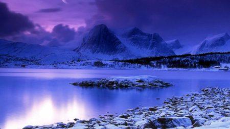 mountains, stones, night