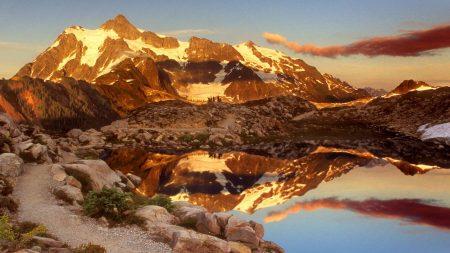 mountains, stones, sky