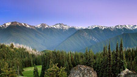 mountains, sun, fog