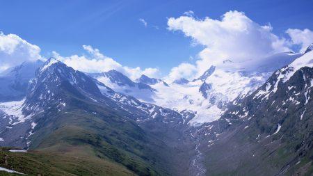 mountains, top, snow
