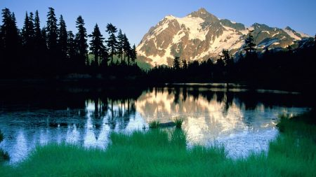 mountains, washington, lake