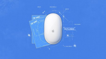 mouse, apple, white