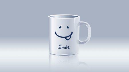 mug, white, smile