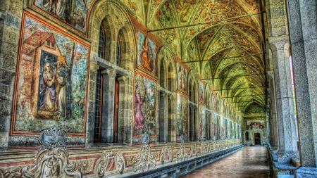 museum, corridor, room