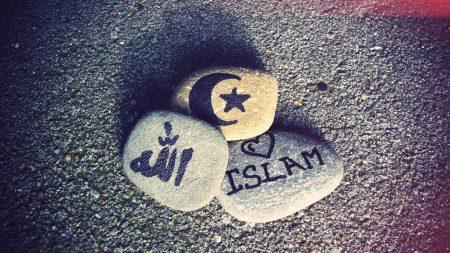 muslims, islam, stones