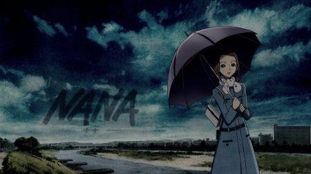 nana, girl, umbrella