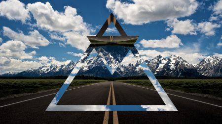 nature, road, triangle