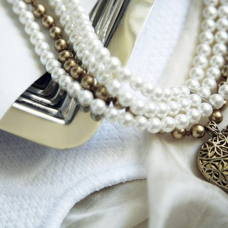 necklace, beads, heart
