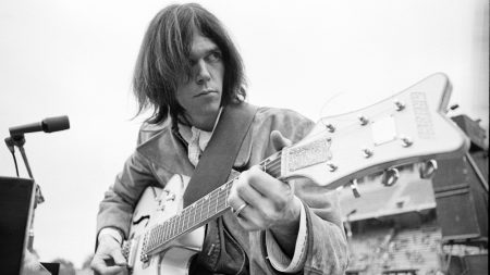 neil young, guitar, hair