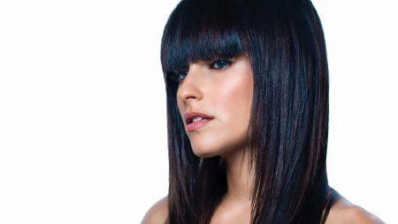 nelly furtado, brunette, hair