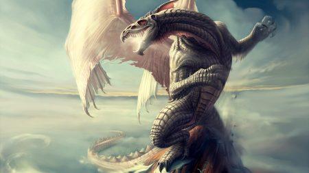 neverwinter nights, dragon, sky