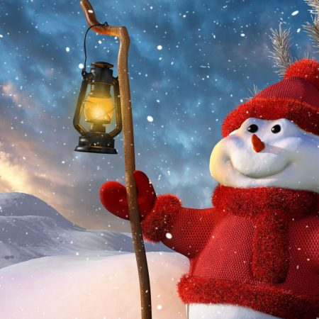 new year, christmas, snowman