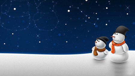 new year, christmas, snowmen
