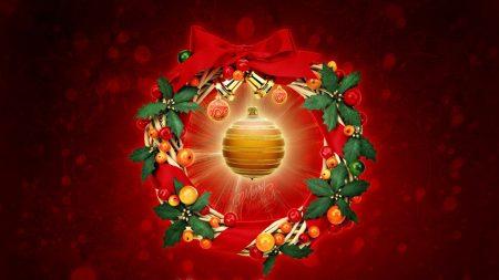 new year, christmas, wreath