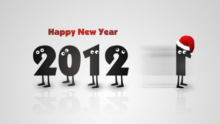 new year, figures, 2012