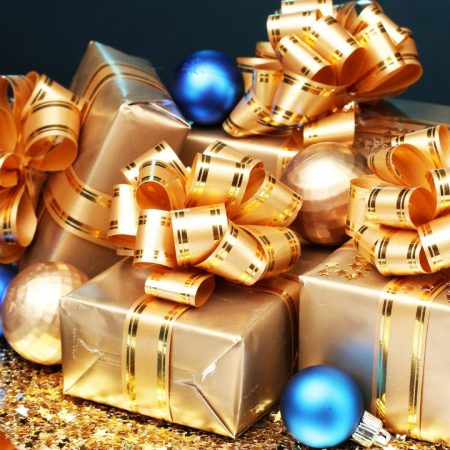new year, gifts, many