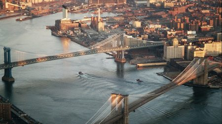 new york, bridge, view from above