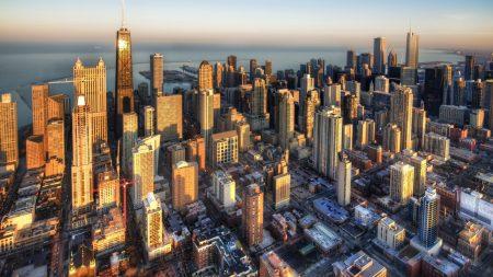 new york, buildings, sky